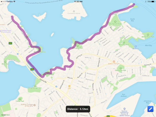 From Louisa Rd Birchgrove to Drummoyne