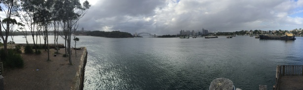 Birchgrove Point, end of Louisa Rd. The Coal Loader cafe and Waverton are across the harbour where the orange is